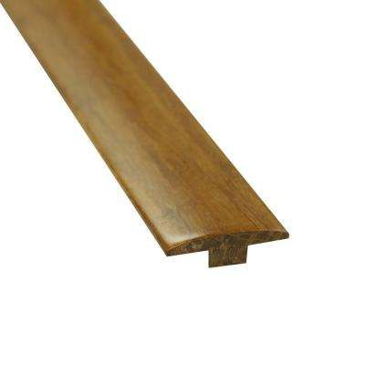 Carbonized 5/8 in. Thick x 2 in. Wide x 72-3/4 in. Length Strand Bamboo T-Molding
