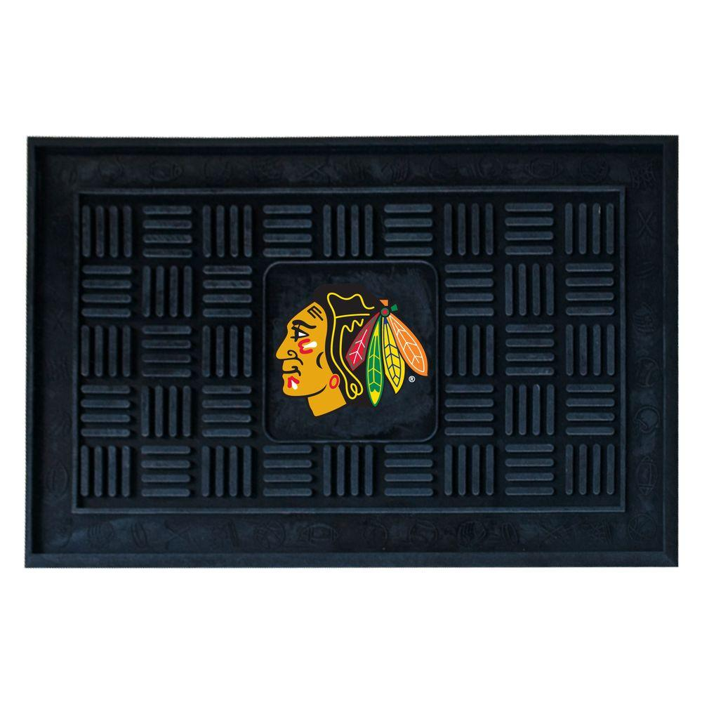 FANMATS Chicago Blackhawks 18 in. x 30 in. Door Mat