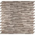 Luxe Interlocking 11.81 in. x 11.81 in. x 8 mm Glass Mesh-Mounted Mosaic Tile (9.69 sq. ft. /case)