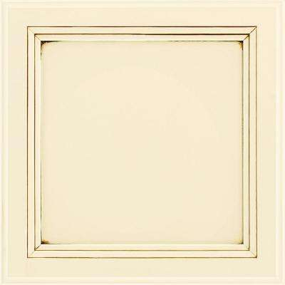 Ashland 13x12-7/8 in. Cabinet Door Sample in Painted Hazelnut Glaze