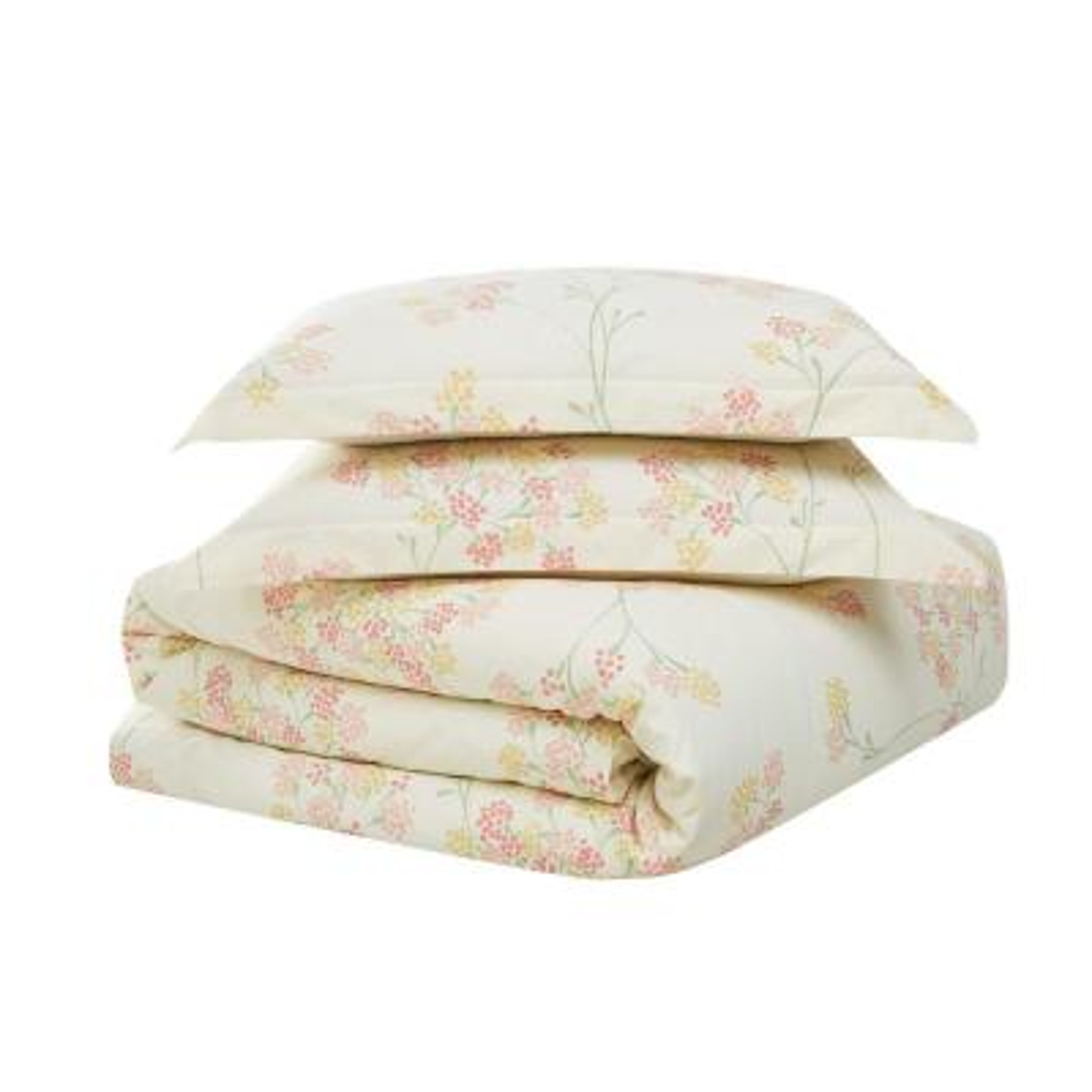 Vivian 3-Piece Multi-Colored Cotton Full/Queen Comforter Set