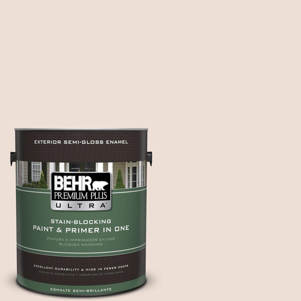 BEHR Premium Plus Ultra 1-gal. #RD-W11 Heavenly Aromas Semi-Gloss Enamel Exterior Paint