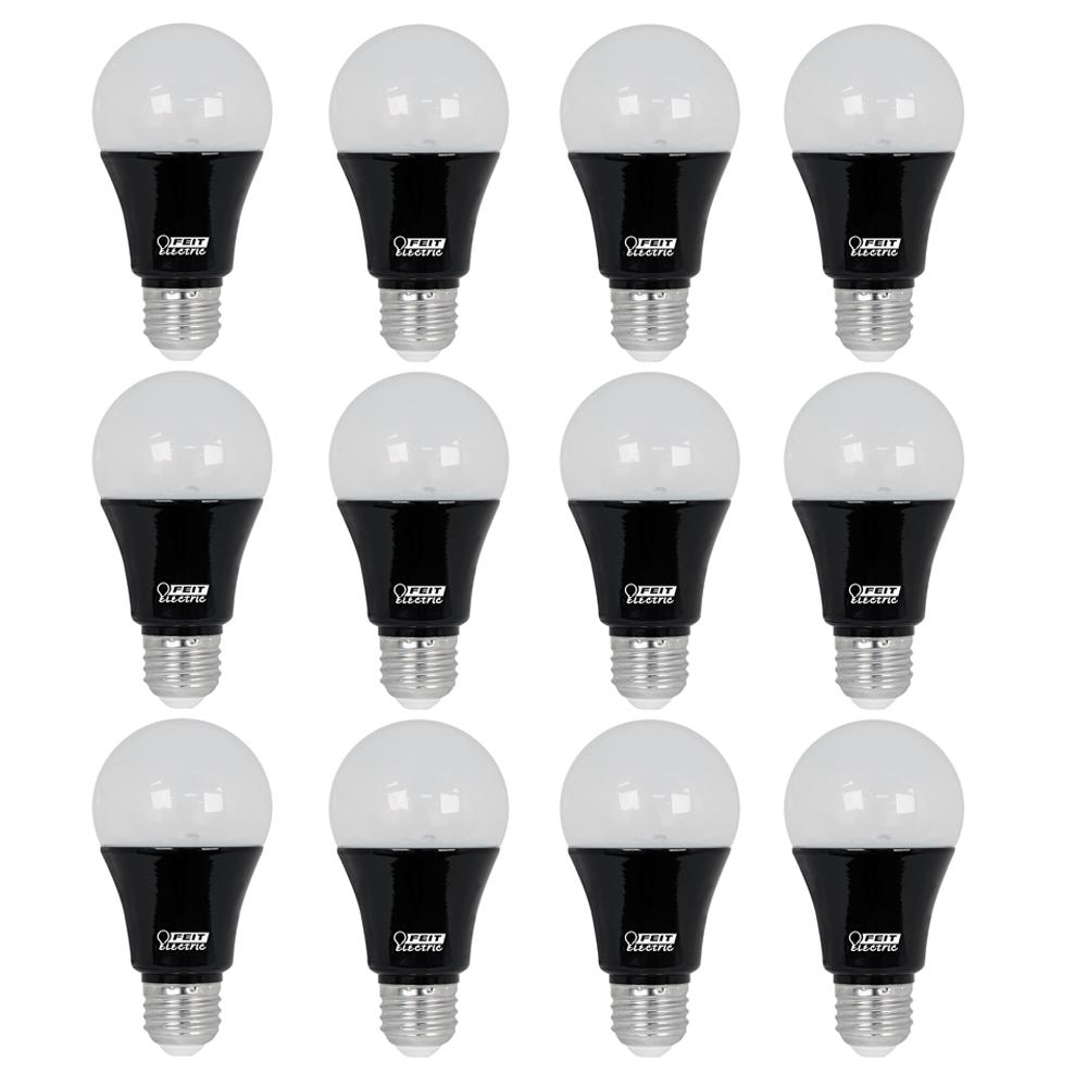 60W Equivalent Black Light A19 LED Party Light Bulb (Case of