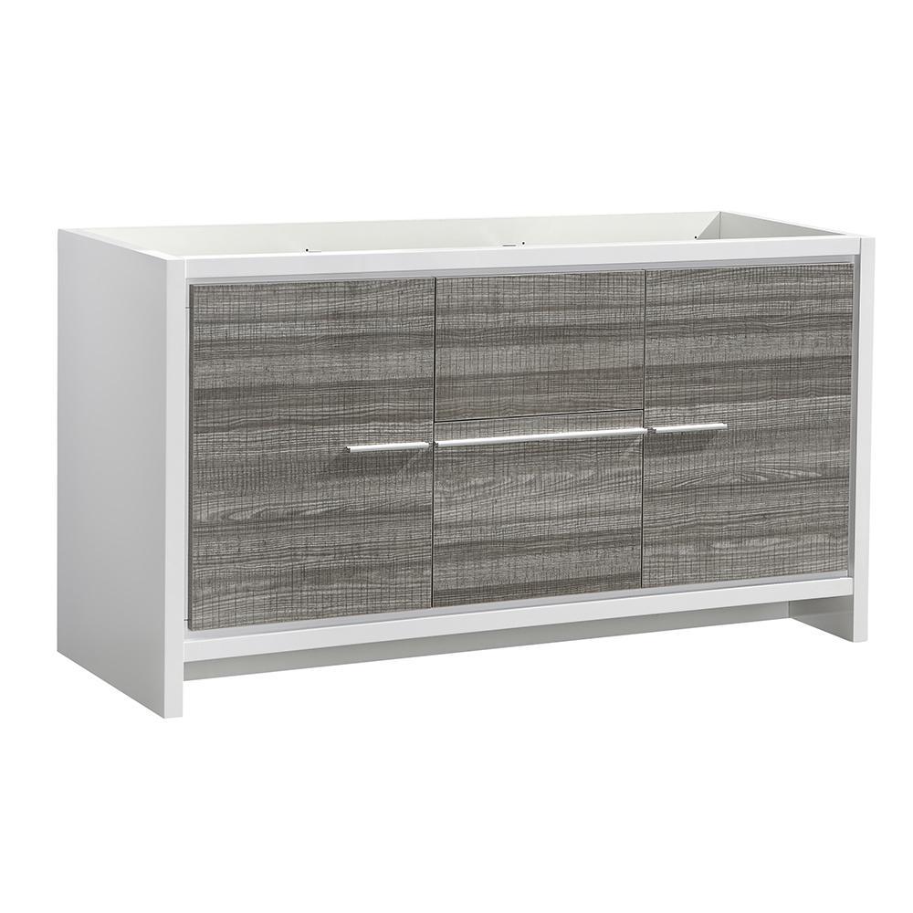 Allier Rio 60 in. Modern Bathroom Double Vanity Cabinet in Ash Gray
