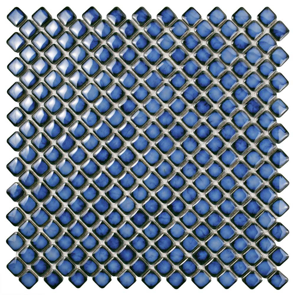 Merola Tile Hudson Diamond Sapphire 12-3/8 in. x 12-3/8 i...