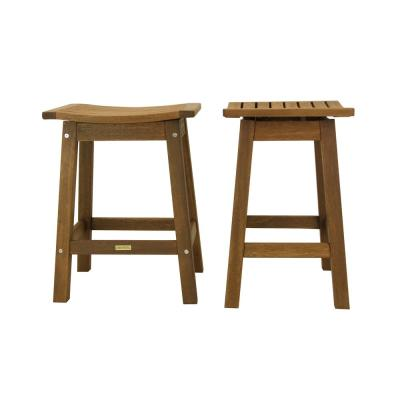 Counter Height Wood Outdoor Dining Chair (2-Pack)