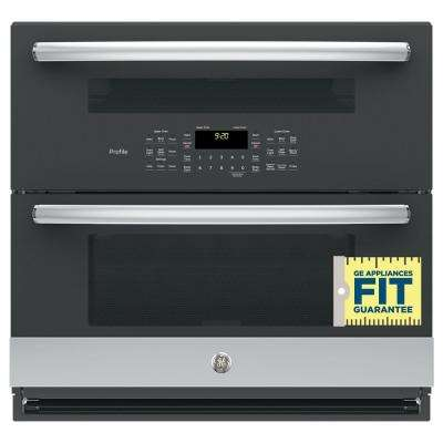 Profile 30 in. Double Electric Wall Oven with Convection (Lower Oven) Self-Cleaning in Stainless Steel