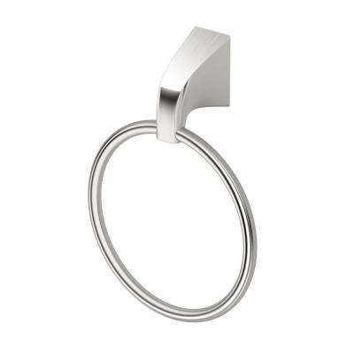 Quantra Towel Ring in Satin Nickel