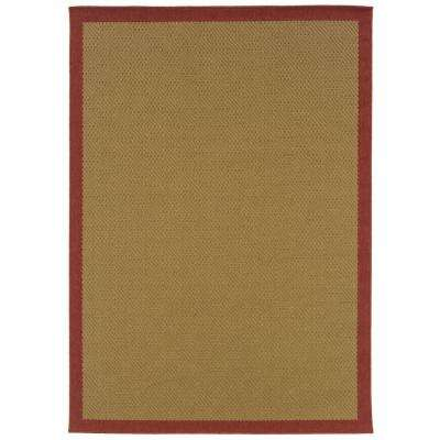 Nevis Boardwalk Red 1 ft. 8 in. x 3 ft. 7 in. Accent Rug