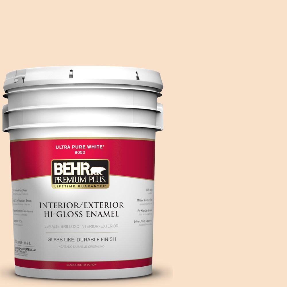 5-gal. #M250-1 Frosting Cream Hi-Gloss Enamel Interior/Exterior Paint