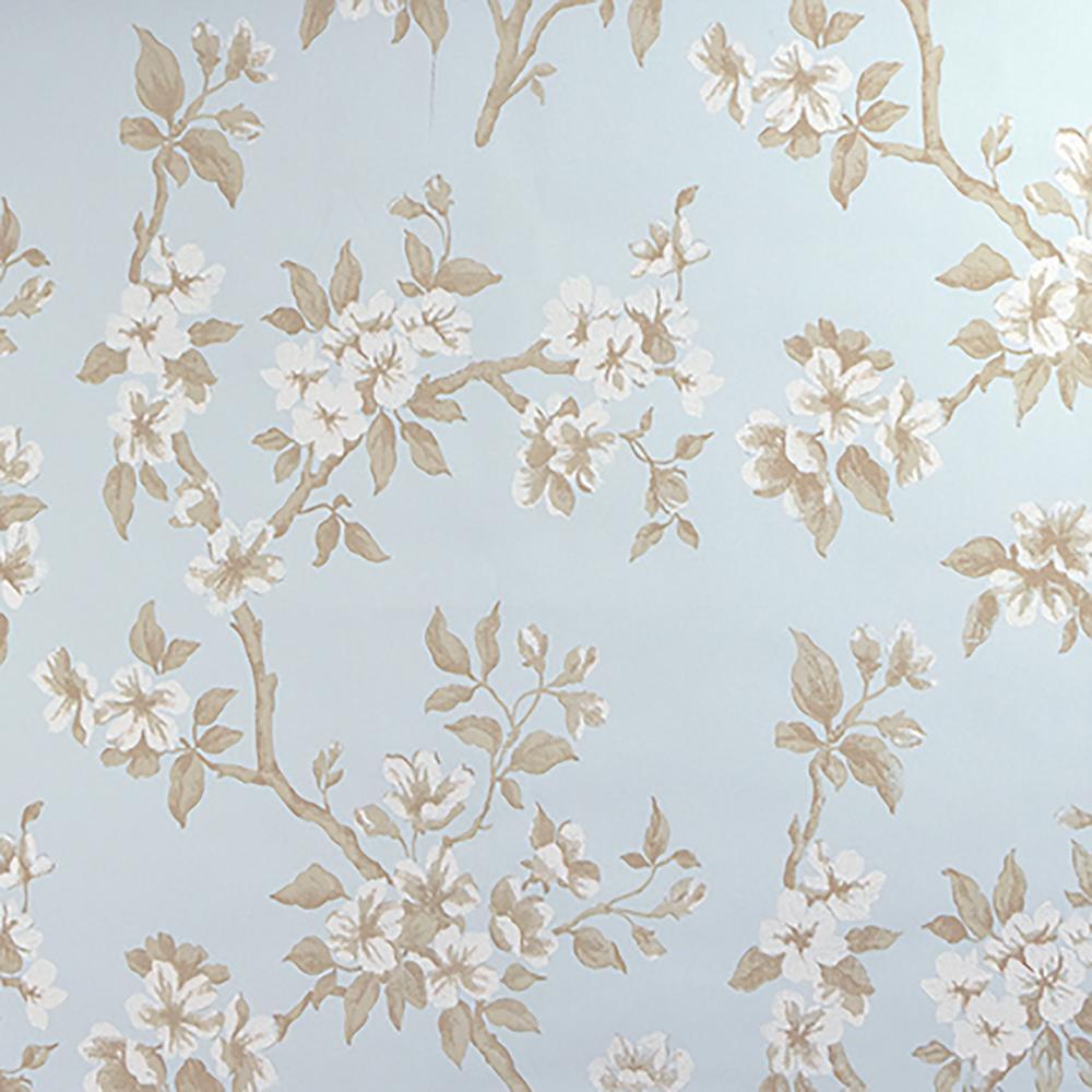 Ellen Blue Floral Wallpaper