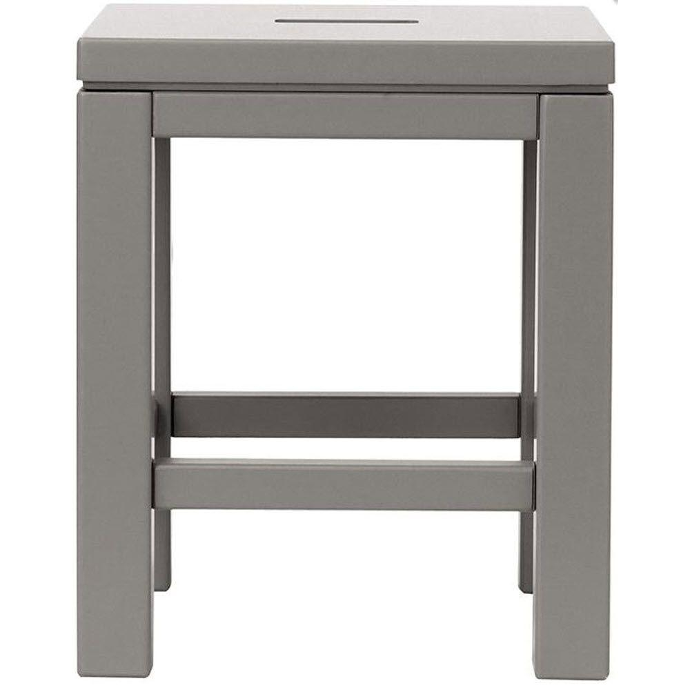 Martha Stewart Living Kids 15 in. H Cement Gray Craft Stool