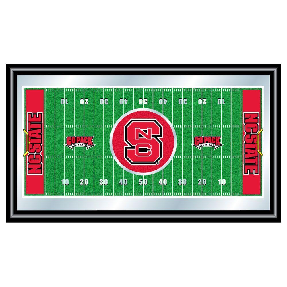 North Carolina State Football 15 in. x 26 in. Black Wood