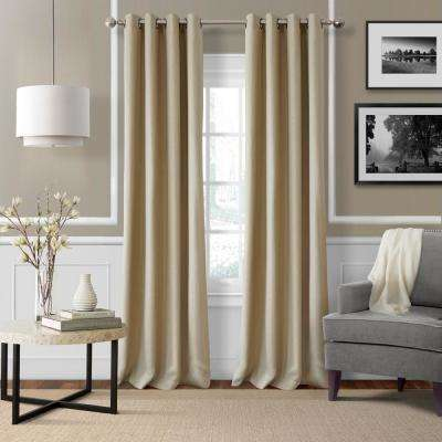 Elrene Essex 50 in. W x 95 in. L Polyester Single Window Curtain Panel in Wheat