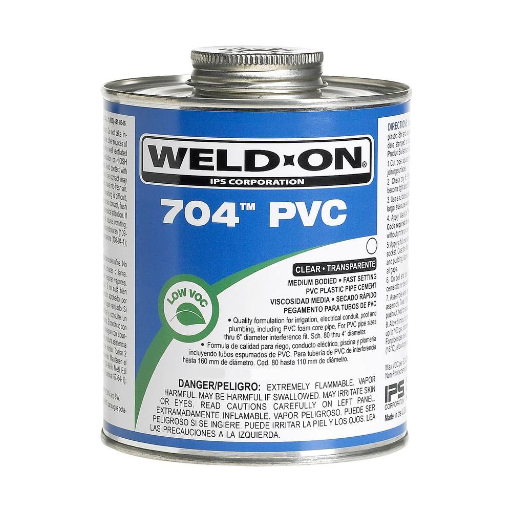 32 oz. PVC 704 Low VOC Cement in Medium Gray (12