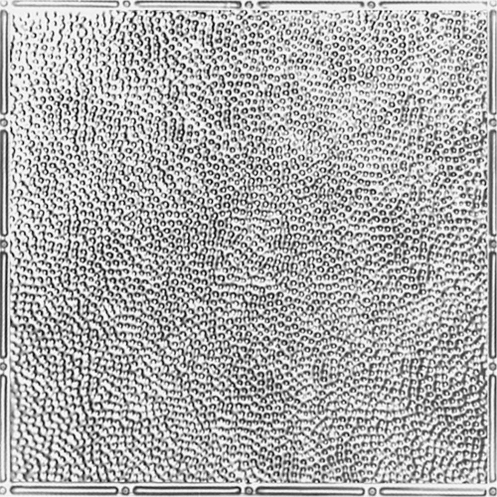 Shanko 2 ft. x 4 ft. Nail-up/Direct Application Tin Ceiling Tile in Bare Steel (24 sq. ft ...