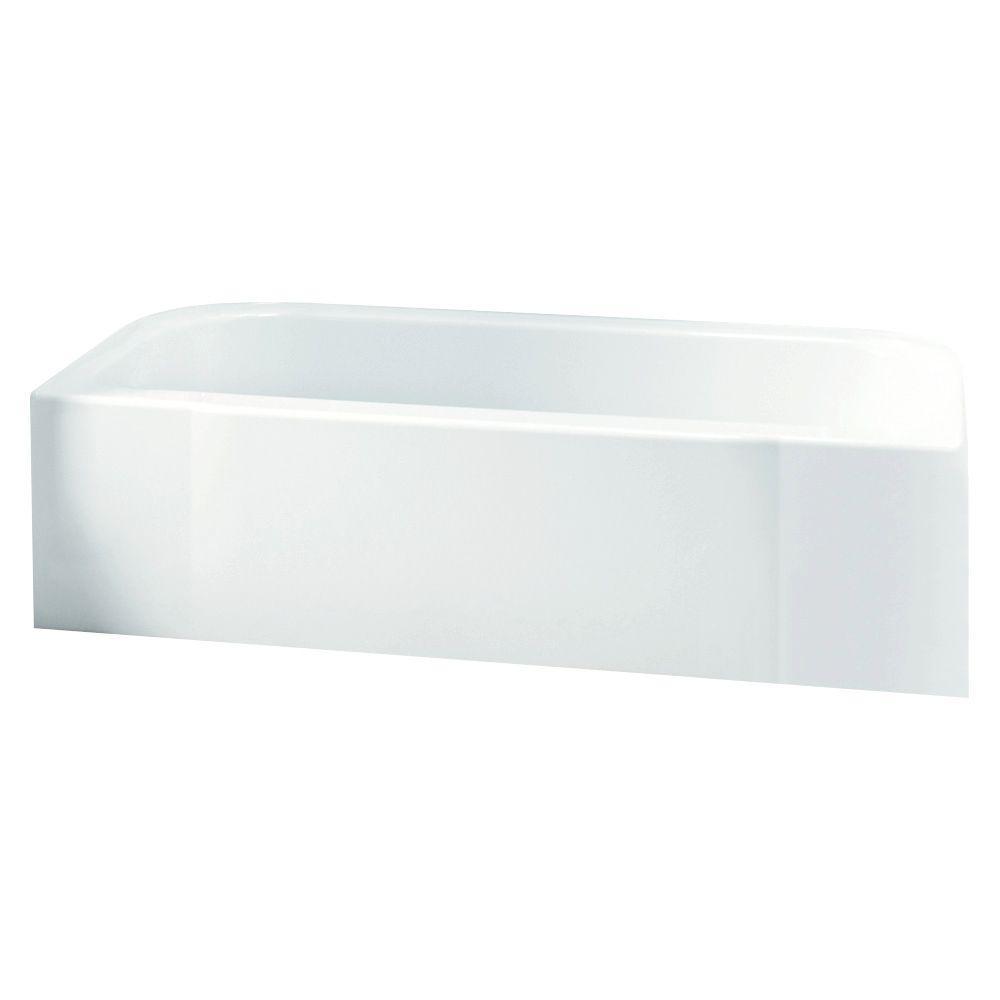 Sterling Advantage 15x30x60 Vikrell Bathtub, Left-Hand, White from ...