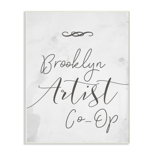 Stupell Industries 10 in. x 15 in. ''Brooklyn Artist Co-Op Typography