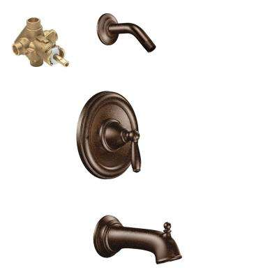Brantford Single-Handle 1-Spray Posi-Temp Tub and Shower Faucet Trim Kit with Valve in Oil Rubbed Bronze