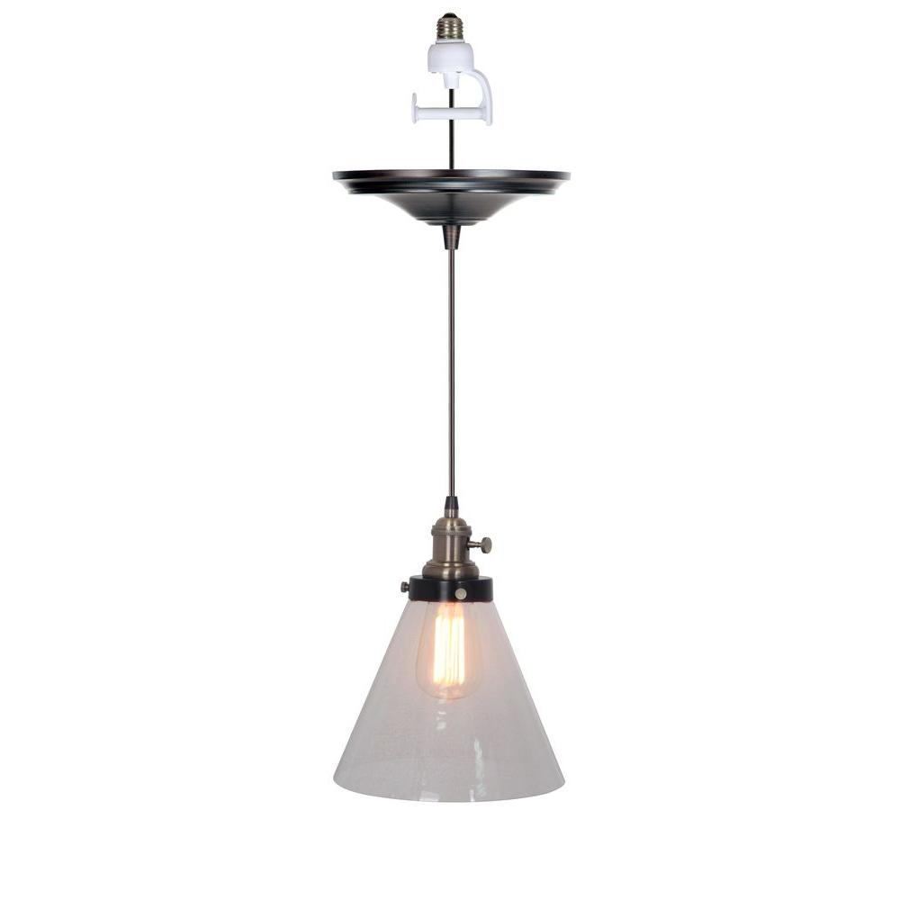 Worth Home Products Instant Pendant Series 1-Light Brushed Bronze Recessed Light  Conversion Kit - Worth Home Products Instant Pendant Series 1-Light Brushed Bronze