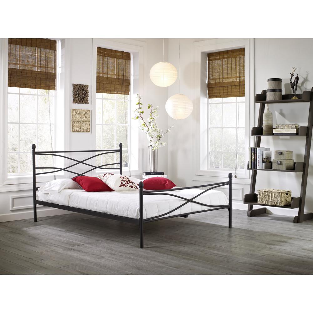 Bailey Matte Black Twin Platform Bed