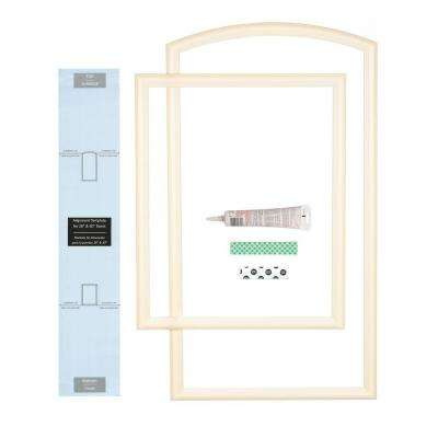 28 in. Width Interior Door Self-Adhering Decorative Frame Kit