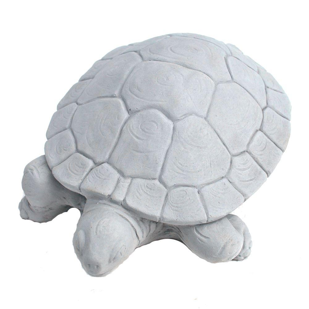 Nichols Bros Stoneworks Cast Stone Water Turtle Garden St...