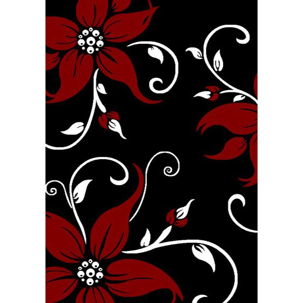 United Weavers Daiquiri Black 5 ft. 3 in. x 7 ft. 2 in. Area Rug