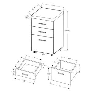 Monarch Specialties Hollow Core White File Cabinet-I 7048 - The ...
