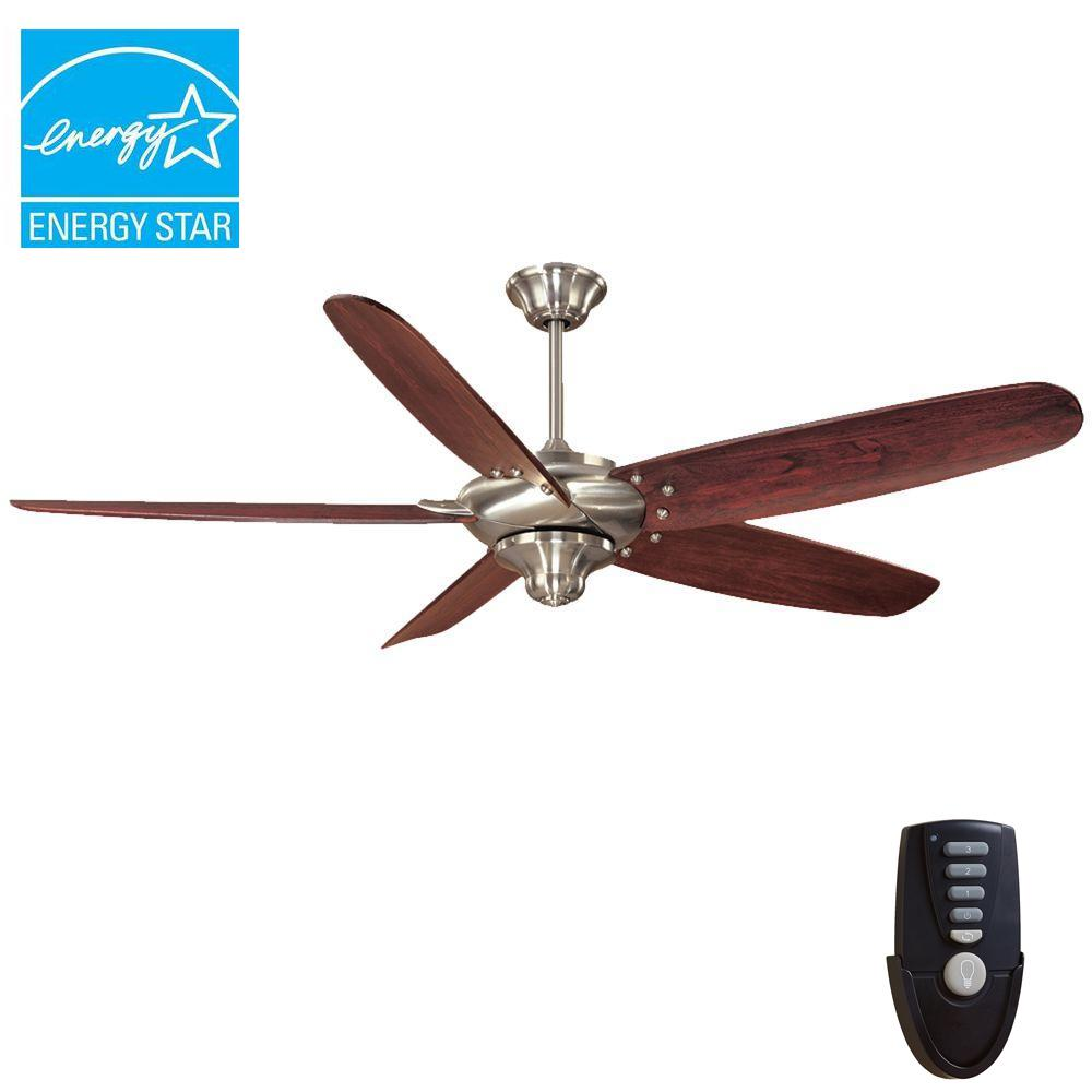 Home Decorators Collection Brette 23 In Led Indoor Outdoor Brushed Nickel Ceiling Fan Am382a Bn