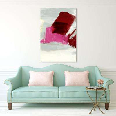 """""""Magenta Abstract 1"""" Frameless Free Floating Tempered Glass Panel Graphic Art Wall Art"""