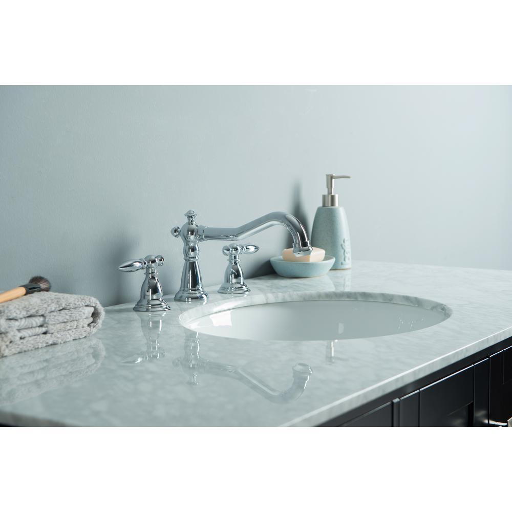 Malibu 48 in. Vanity in Espresso with Marble Vanity Top in Carrara White