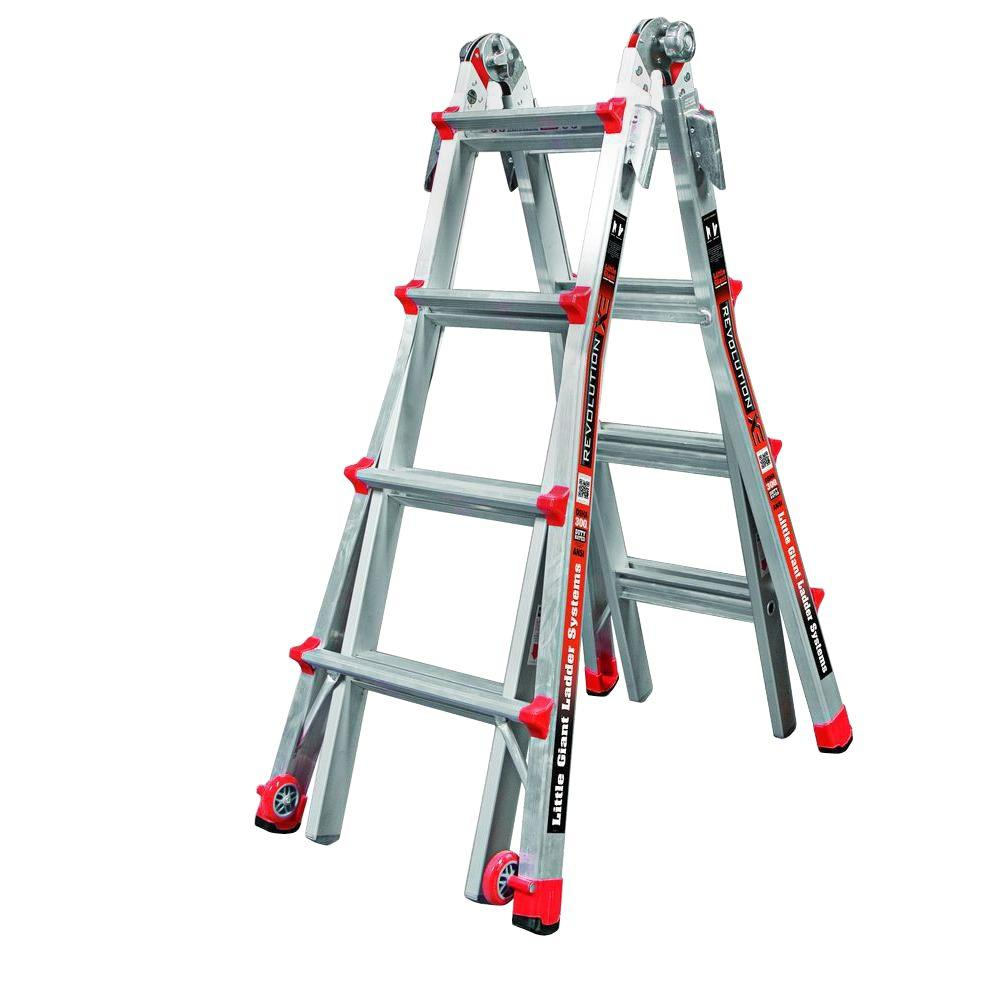 Little Giant Ladder Systems Revolution 17 ft. Aluminum Multi-Position Ladder with 300 lb. Load Capacity Type IA Duty Rating