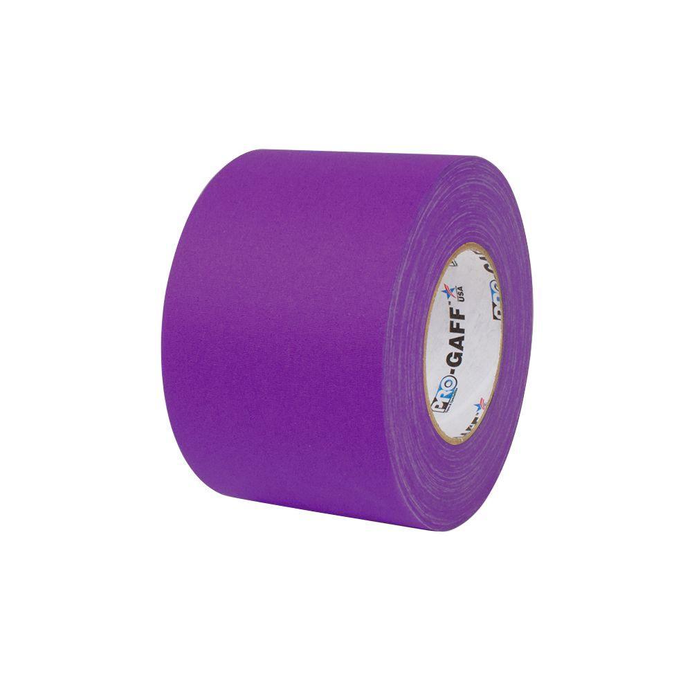 4 in. x 55 yds. Purple Gaffer Industrial Vinyl Cloth Tape (3-Pack)