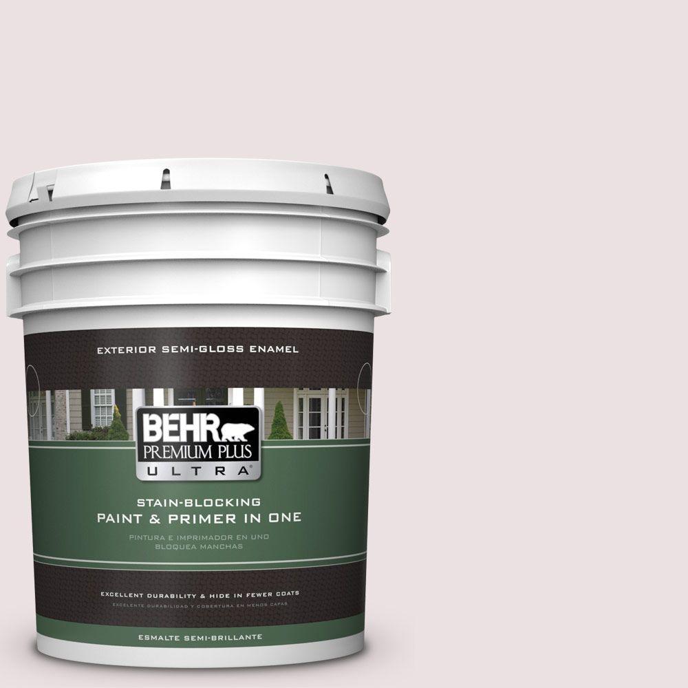 BEHR Premium Plus Ultra 5-gal. #130E-1 Glaze White Semi-Gloss Enamel Exterior Paint