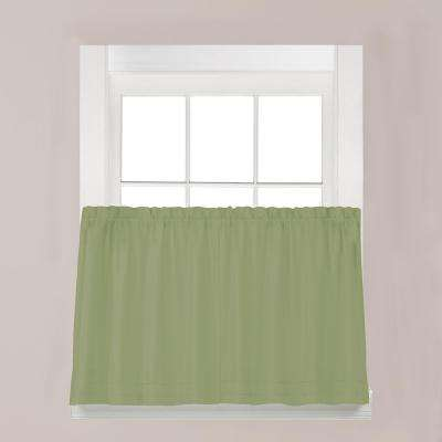 Holden Sage Polyester Rod Pocket Tier Curtain - 57 in. W x 30 in. L