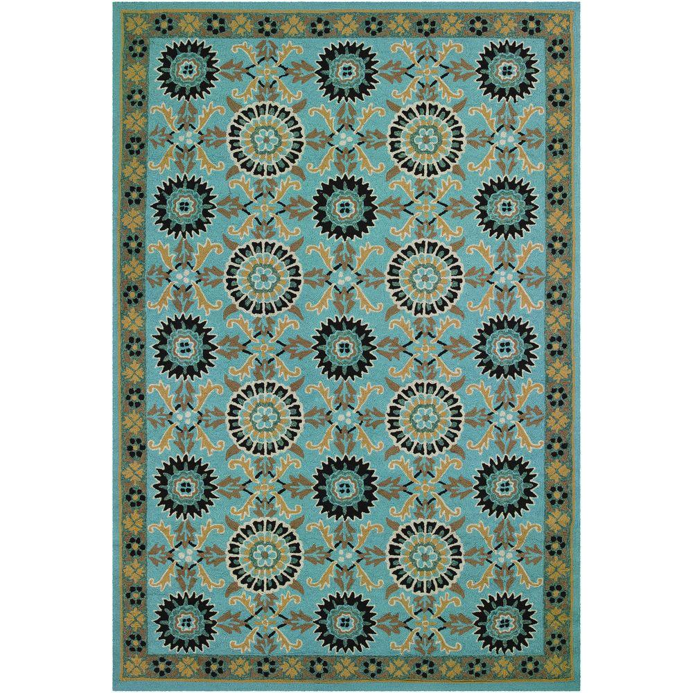 Couristan Covington Suncrest Azure 2 ft. 6 in. x 8 ft. 6 in. Runner-DISCONTINUED