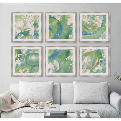 "21 in. x 21 in. ""Aqueous Nature VI"" Framed Giclee Print Wall Art"