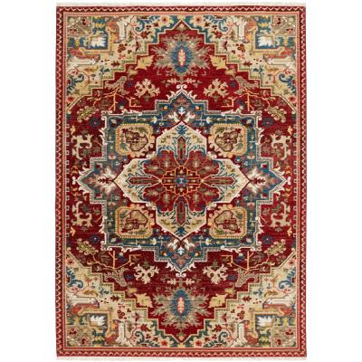 Ridgefield Red 5 ft. x 7 ft. Indoor Area Rug