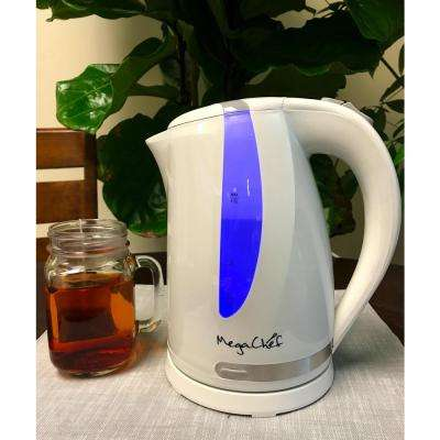 1.7 l White Plastic Electric Tea Kettle