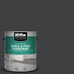 1 gal. #PFC-75 Tar Black Gloss Porch and Patio Floor Paint