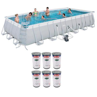 12 ft. x 24 ft. x 52 in. Above Ground Pool Plus Type IV/B Cartridges (6-Pack)