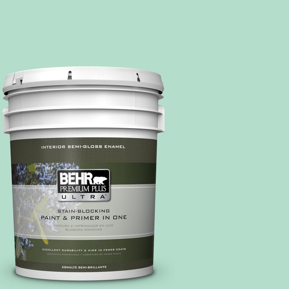 BEHR Premium Plus Ultra 5 gal. #MQ4-18 Free Spirit Semi-Gloss Enamel Interior Paint and Primer in One