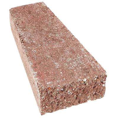 RockWall 2 in. x 4.25 in. x 9 i n. Red Concrete Wall Cap (320-Piece/89.3 sq. ft./Pallet)