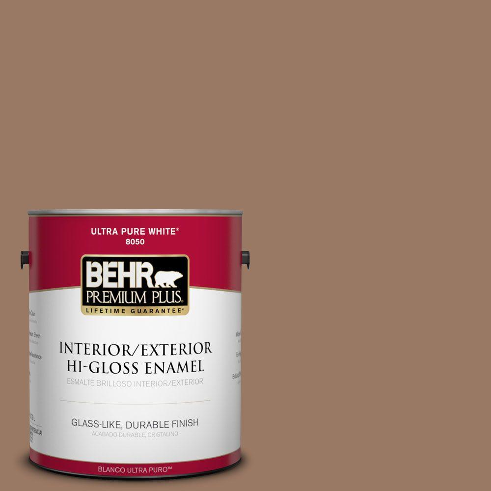 1-gal. #250F-5 Fudge Bar Hi-Gloss Enamel Interior/Exterior Paint