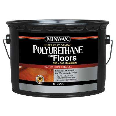 2.5 gal. Gloss Super Fast-Drying Polyurethane for Hardwood Floors