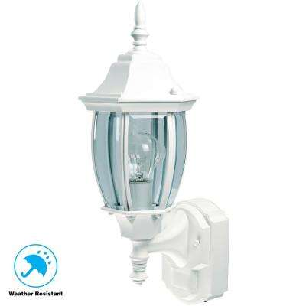 Alexandria 180° White Motion-Sensing Outdoor Decorative Lamp