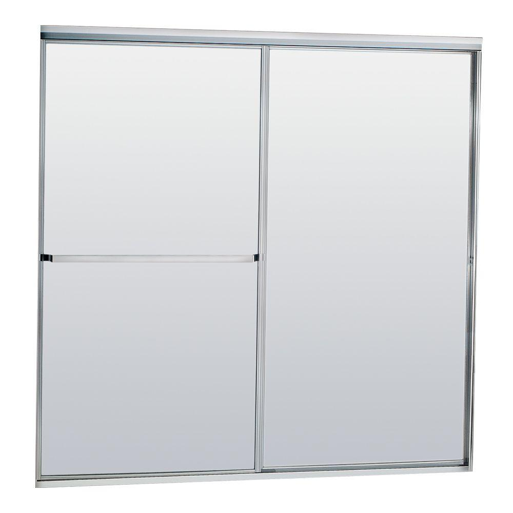Model 750 58-1/2 in. x 57 in. Framed Sliding Tub Door