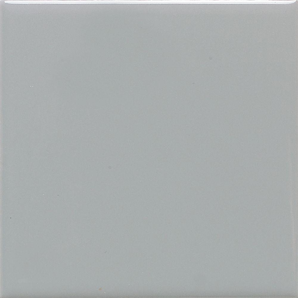 Matte Desert Gray 4-1/4 in. x 4-1/4 in. Ceramic Floor and