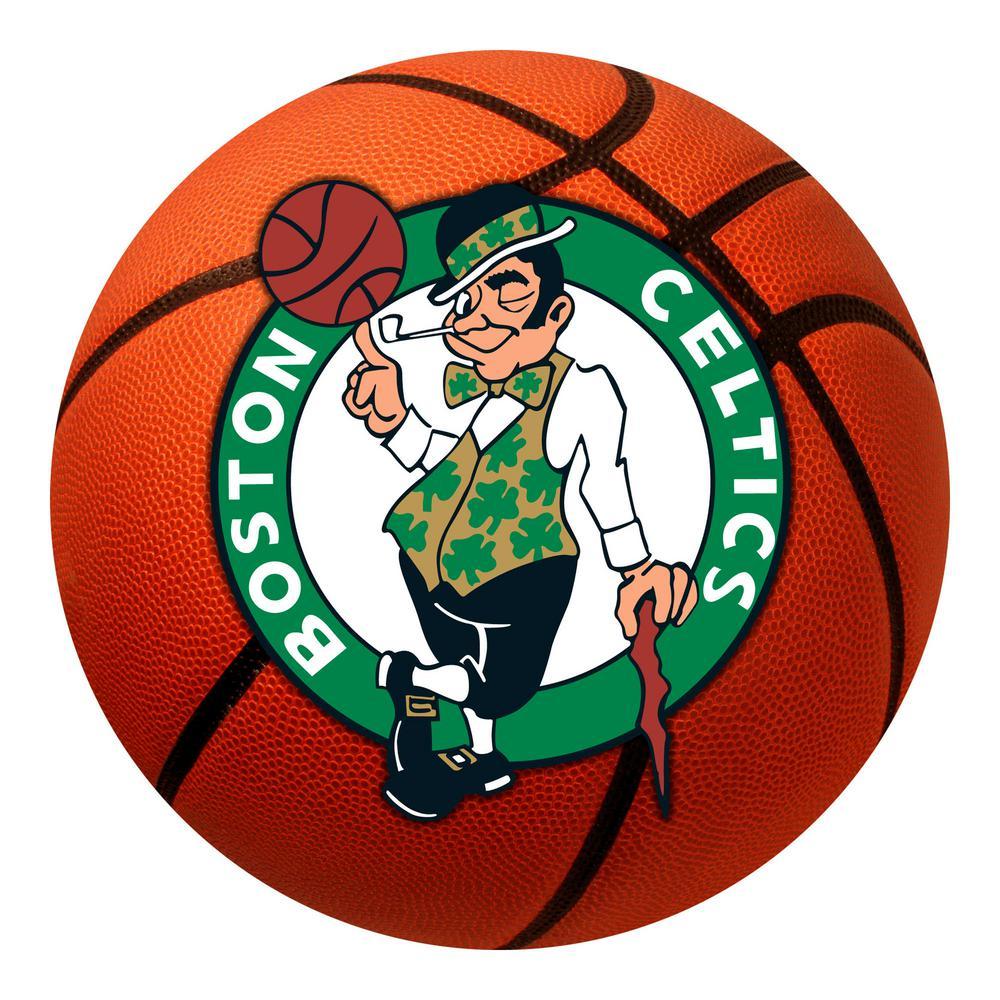 NBA - Boston Celtics Photorealistic 27 in. Round Basketball Mat